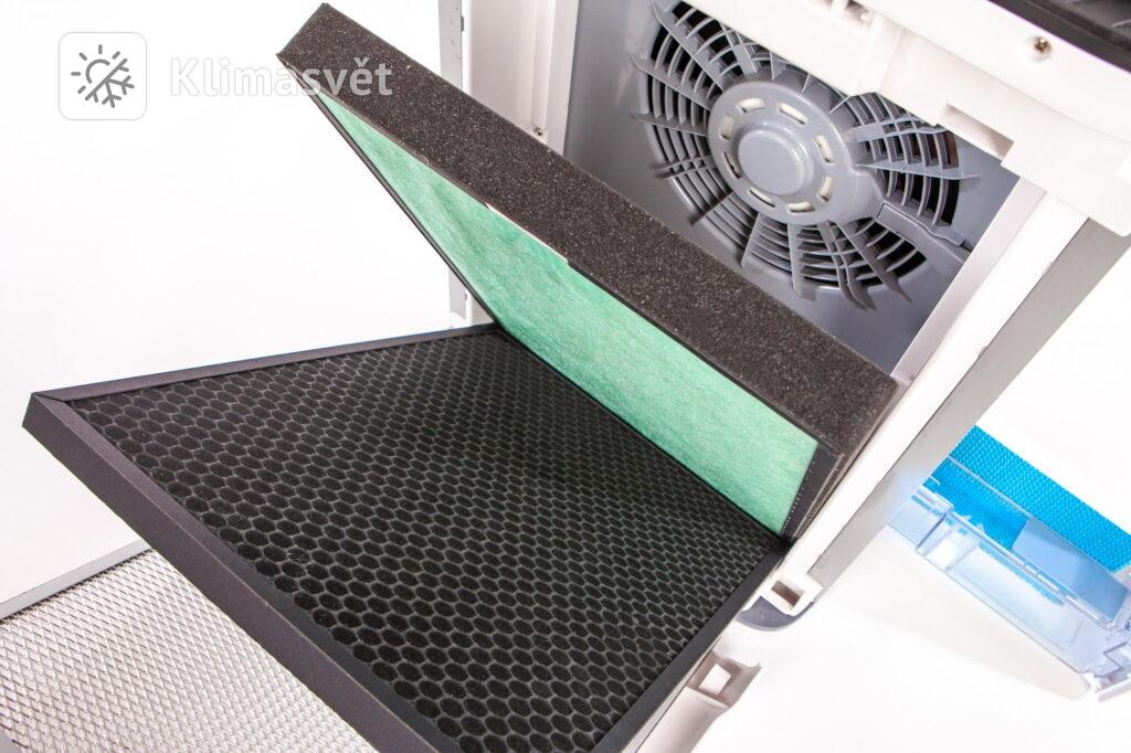 Filtry v klimatizaci lze libovolně kombinovat a měnit podle potřeby.